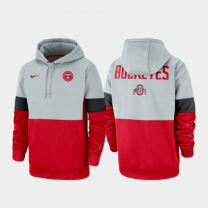 Gray Scarlet OSU Hoodie Rivalry Therma Performance Pullover Men's 599952-285