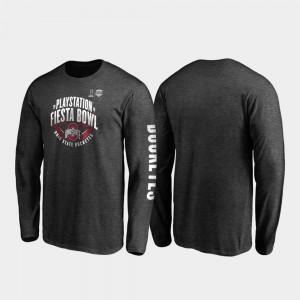 2019 Fiesta Bowl Bound Neutral Stiff Arm Long Sleeve Men OSU T-Shirt Heather Charcoal 723035-706