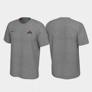 Heathered Gray OSU T-Shirt Left Chest Logo Men's Legend 763990-952