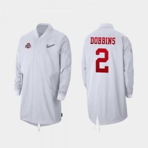 #2 Full-Zip Sideline 2019 College Football Playoff Bound J.K. Dobbins OSU Jacket Men's White 360724-488