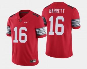 Mens #16 2018 Spring Game Limited J.T. Barrett OSU Jersey Scarlet 121051-714