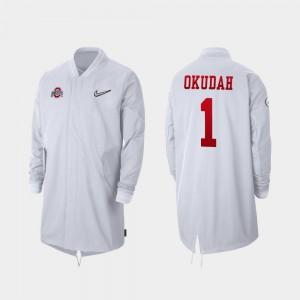 White For Men's #1 2019 College Football Playoff Bound Full-Zip Sideline Jeff Okudah OSU Jacket 706573-401
