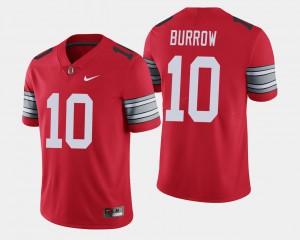 2018 Spring Game Limited Joe Burrow OSU Jersey #10 Mens Scarlet 558465-987
