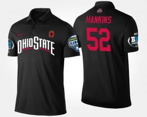 Big Ten Conference Cotton Bowl #52 Johnathan Hankins OSU Polo For Men's Bowl Game Black 972492-771