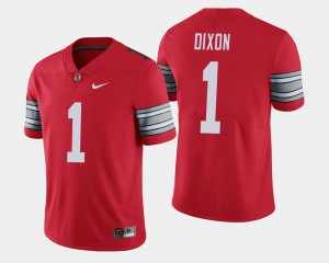 #1 Johnnie Dixon OSU Jersey Scarlet For Men's 2018 Spring Game Limited 772019-596