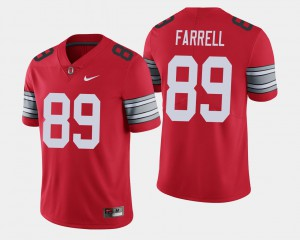 Luke Farrell OSU Jersey Scarlet For Men's 2018 Spring Game Limited #89 549444-993