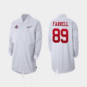 For Men White Luke Farrell OSU Jacket 2019 College Football Playoff Bound Full-Zip Sideline #89 284298-314