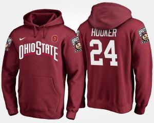 Malik Hooker OSU Hoodie #24 For Men Scarlet 419997-445