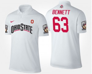 Michael Bennett OSU Polo White #63 Mens 496157-709