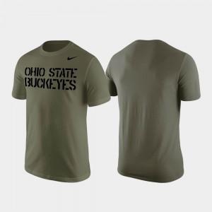 Stencil Wordmark Olive Mens OSU T-Shirt 218286-624