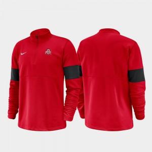 2019 Coaches Sideline Half-Zip Performance Scarlet Men's OSU Jacket 174827-981
