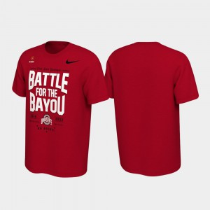 2019 College Football Playoff Bound Mens Scarlet Battle For The Bayou OSU T-Shirt 289000-389