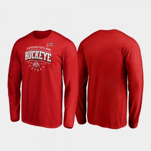 Scarlet Primary Tackle Long Sleeve 2019 Fiesta Bowl Bound OSU T-Shirt Men's 142616-653