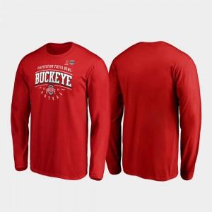 OSU T-Shirt Tackle Long Sleeve 2019 Fiesta Bowl Bound Scarlet Men's 118471-477