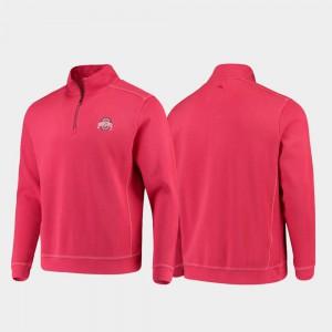 Scarlet Half-Zip Pullover Tommy Bahama College Sport Nassau Mens OSU Jacket 959714-299