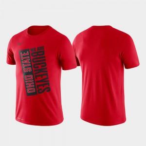 Scarlet Just Do It Men's Basketball Performance OSU T-Shirt 132297-119