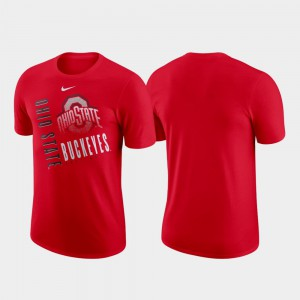 Scarlet Performance Cotton Just Do It OSU T-Shirt For Men's 741214-525