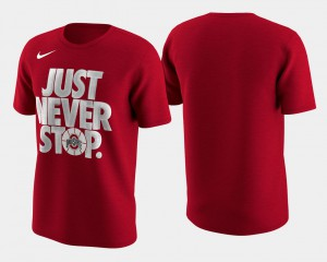 For Men Basketball Tournament Just Never Stop Scarlet OSU T-Shirt March Madness Selection Sunday 607076-185