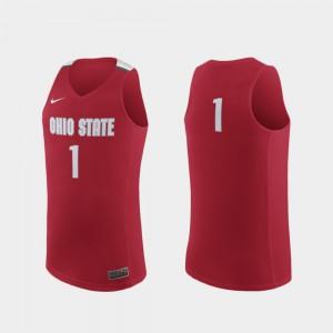 Scarlet College Basketball Men's #1 OSU Jersey Replica 826517-355