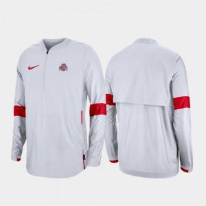 White 2019 Coaches Sideline Quarter-Zip For Men's OSU Jacket 305250-867