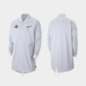 Men's Sideline Full-Zip 2019 College Football Playoff Bound OSU Jacket White 839920-411