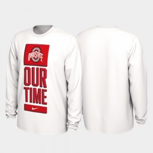 White Our Time Bench Legend 2020 March Madness OSU T-Shirt For Men 114085-473