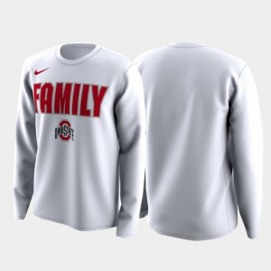 OSU T-Shirt March Madness Legend Basketball Long Sleeve Mens Family on Court White 814977-351