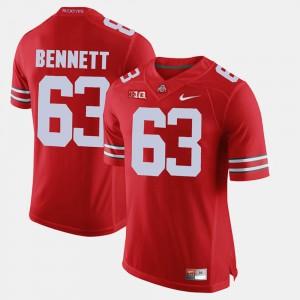 Alumni Football Game For Men's Michael Bennett OSU Jersey Scarlet #63 473364-667