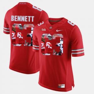 Pictorial Fashion #63 Scarlet Michael Bennett OSU Jersey For Men 907289-382