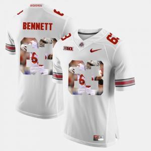 #63 Michael Bennett OSU Jersey White Pictorial Fashion Men's 500290-932