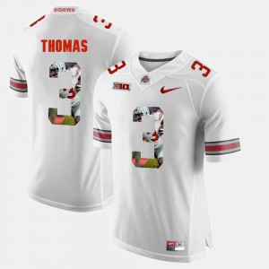 Michael Thomas OSU Jersey White Pictorial Fashion For Men's #3 354688-497