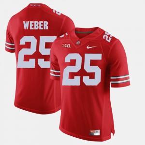#25 Scarlet Alumni Football Game For Men Mike Weber OSU Jersey 921828-276