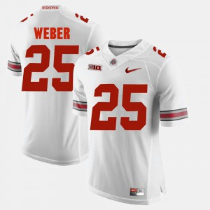 #25 Alumni Football Game White For Men's Mike Weber OSU Jersey 533228-972