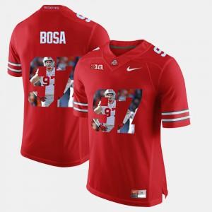 For Men's Nick Bosa OSU Jersey Scarlet #97 Pictorial Fashion 444715-332