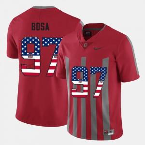 US Flag Fashion #97 Scarlet For Men Nick Bosa OSU Jersey 517901-658