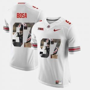 White #97 Nick Bosa OSU Jersey Men Pictorial Fashion 448673-522