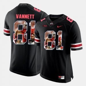 Pictorial Fashion For Men Nick Vannett OSU Jersey #81 Black 346177-832