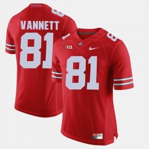 For Men's Scarlet #81 Alumni Football Game Nick Vannett OSU Jersey 766783-537