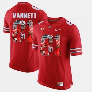 #81 Men Scarlet Pictorial Fashion Nick Vannett OSU Jersey 312040-749