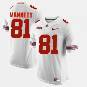 #81 Alumni Football Game For Men Nick Vannett OSU Jersey White 949298-486