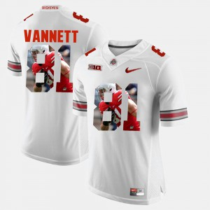 #81 White Nick Vannett OSU Jersey For Men's Pictorial Fashion 280708-589