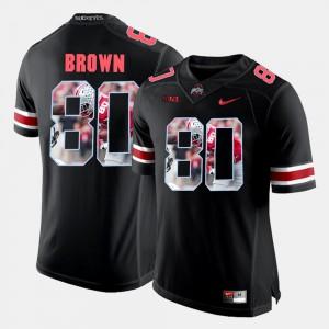 Black #80 Pictorial Fashion Men's Noah Brown OSU Jersey 660810-662