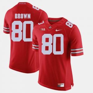For Men's #80 Noah Brown OSU Jersey Alumni Football Game Scarlet 268313-685