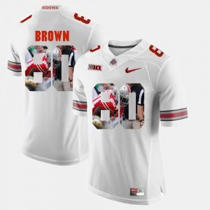Pictorial Fashion Mens White Noah Brown OSU Jersey #80 232496-587