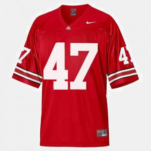 Men's College Football Red A.J. Hawk OSU Jersey #47 295845-792