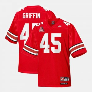 Archie Griffin OSU Jersey #45 Red College Football Youth 860406-577