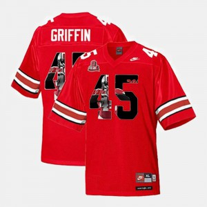 For Men #45 Throwback Archie Griffin OSU Jersey Scarlet 922793-817