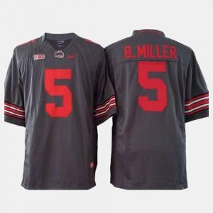 Braxton Miller OSU Jersey Gray Men's College Football #5 246867-629