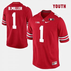 Braxton Miller OSU Jersey #1 College Football Youth Red 228637-579