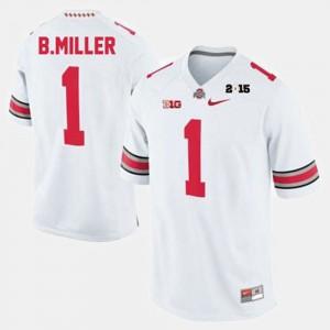 Men White #1 College Football Braxton Miller OSU Jersey 777630-170